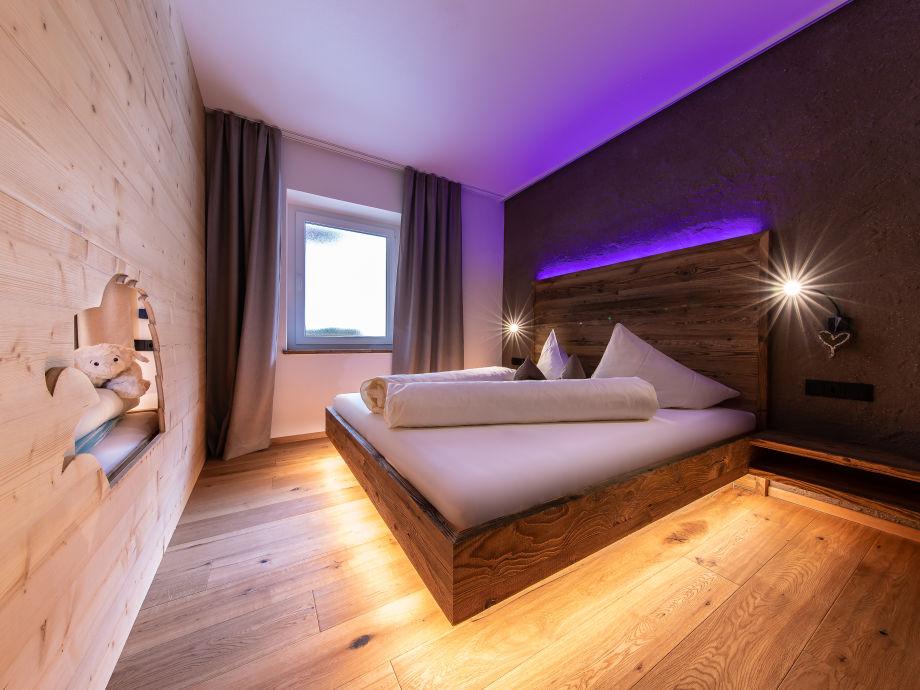 Schlafzimmer in der Ferienwohnung Sonnenadler
