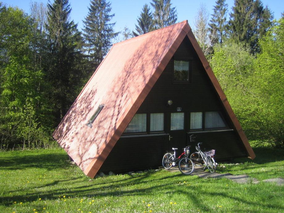 Ferienhaus im Frühling