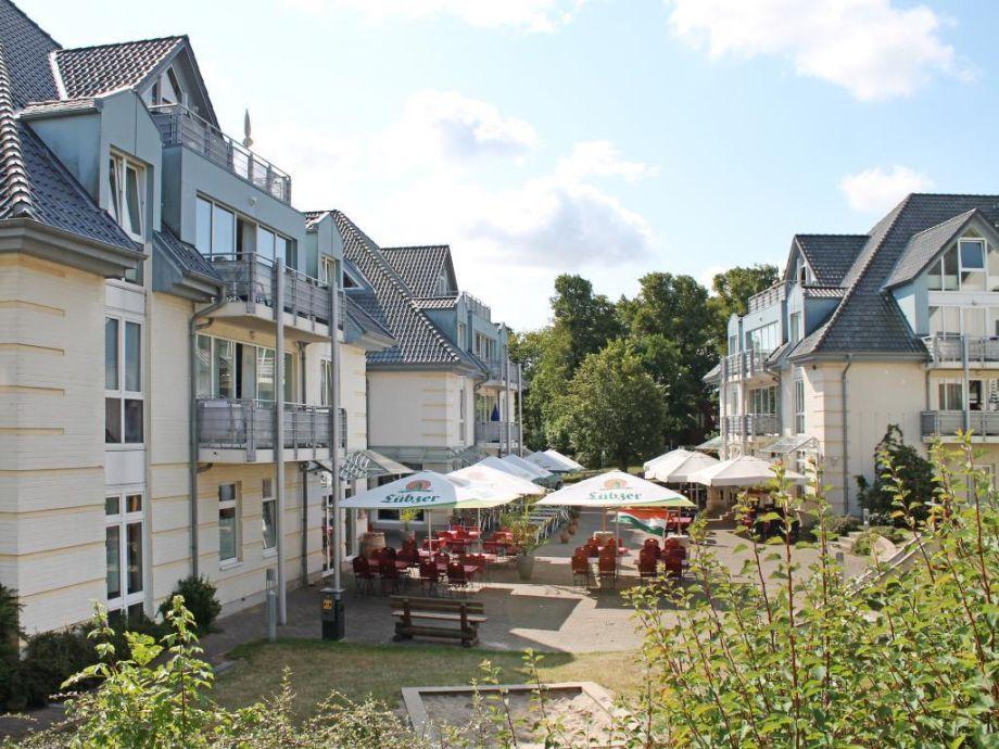 Residenz Seestern - Blick auf den Innenhof