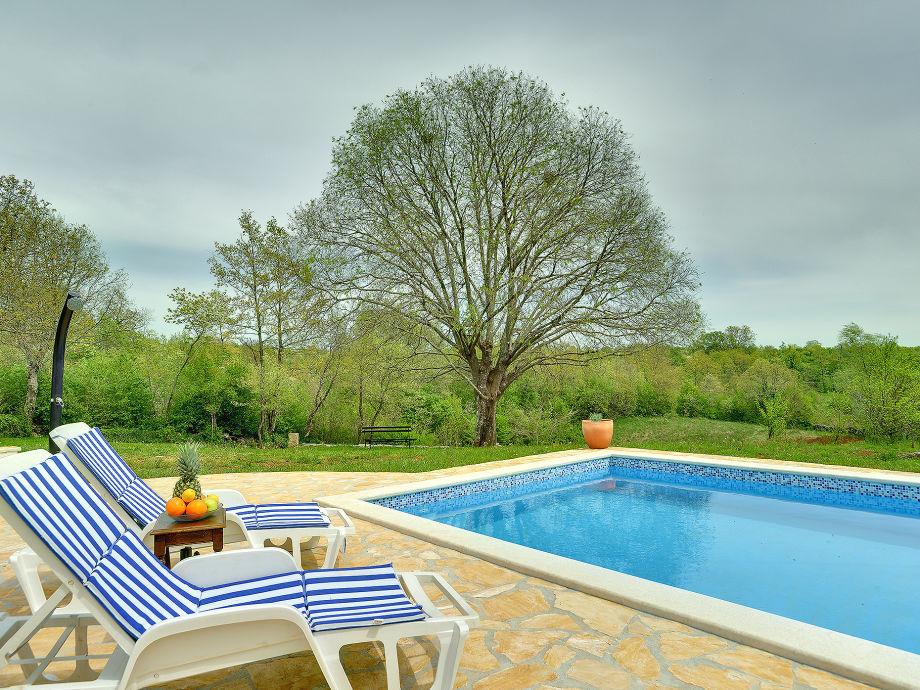 Pool area of villa Lola