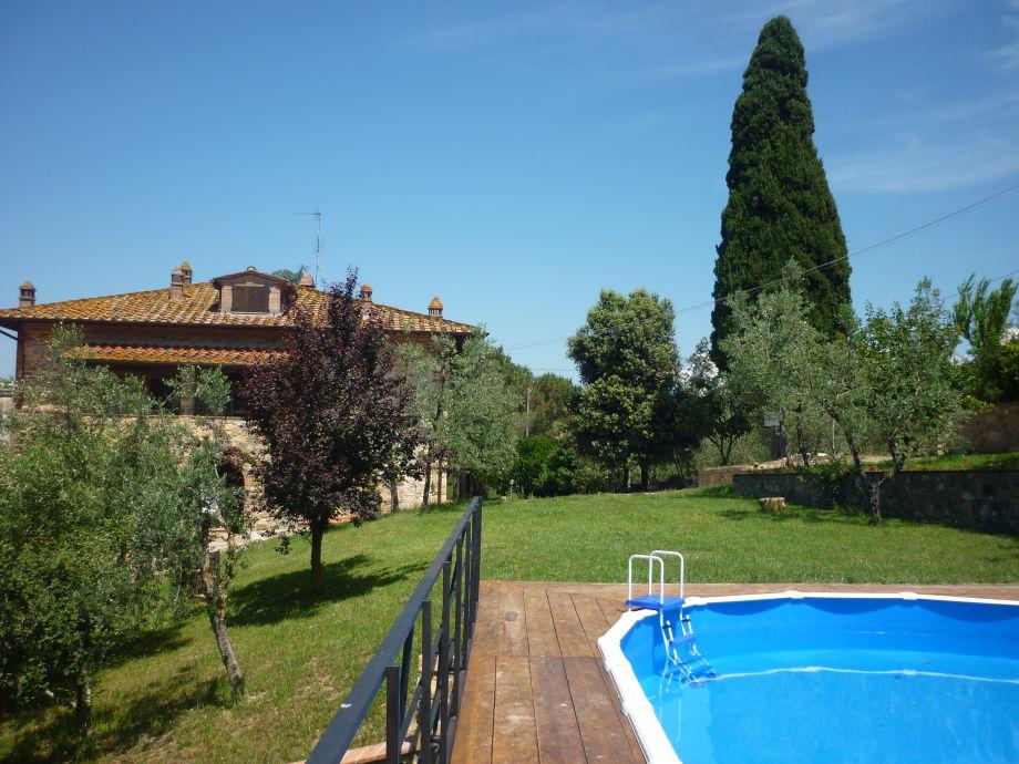 Pool mit Blick aufs Haus