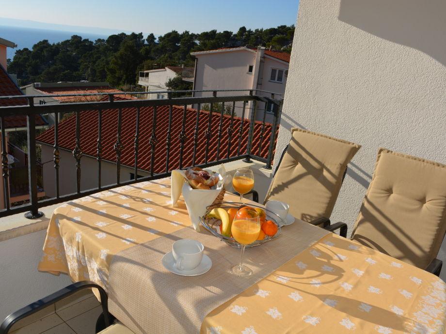 Balkon der Ferienwohnung (Brac)