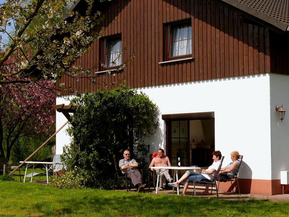Terrasse Ferienhaus, Wohn. A