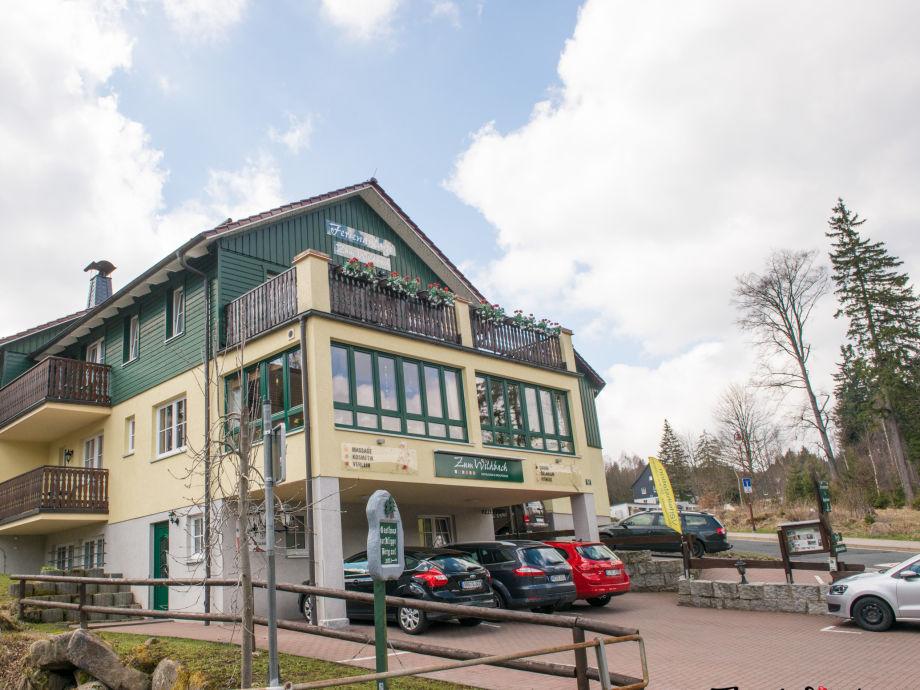 Haupthaus der Ferienanlage Zum Wildbach