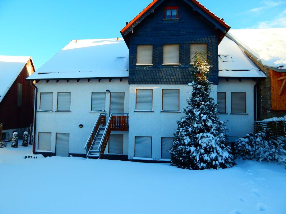 Ferienhaus (Gartenseite)  im Winter