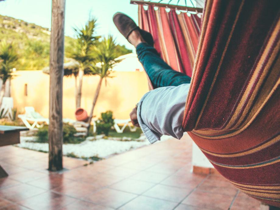 Entspannender Außenbereich - Hängematte