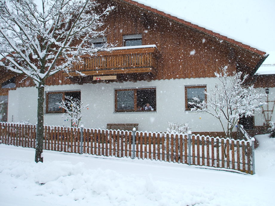 Haus Kerstan im Winter