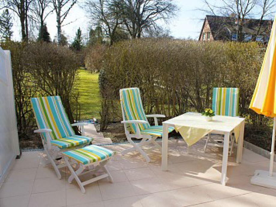 Möblierte Terrasse in Süd-/Westlage