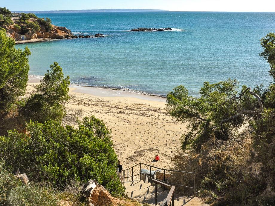 Der Strand direkt am Haus