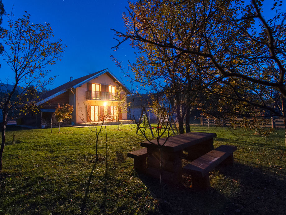 Ferienhaus beim Nacht