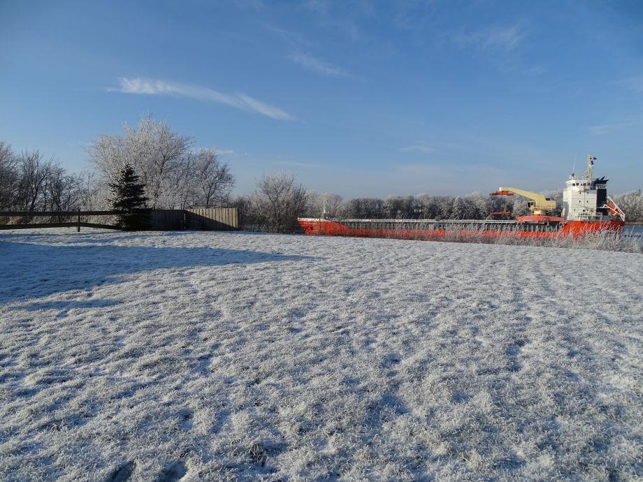 Außenfläche im Winter