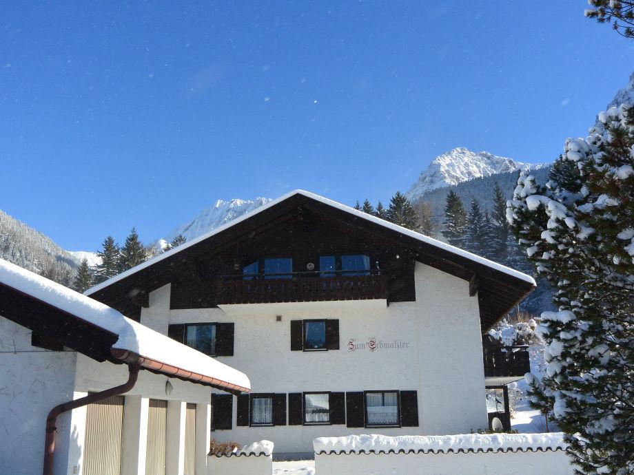 Außenansicht der Ferienwohnung Karwendelspitzblick