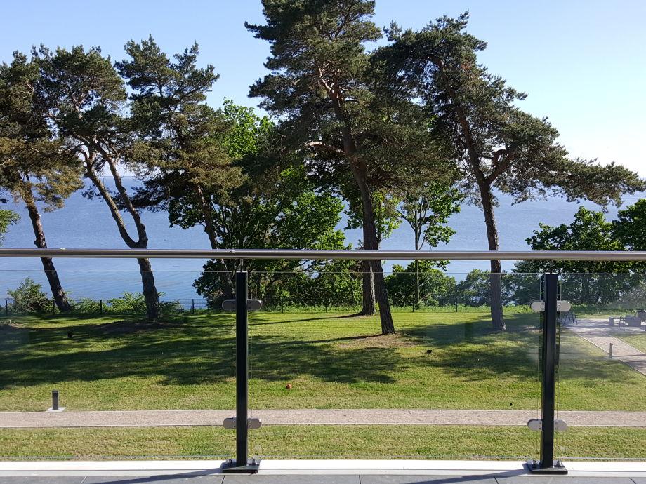 Blick von der Terrasse auf das Haff