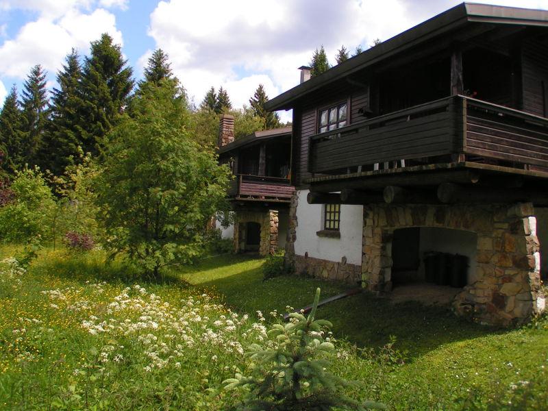 Ferienhaus Blockhaus direkt am See - Café Egerland