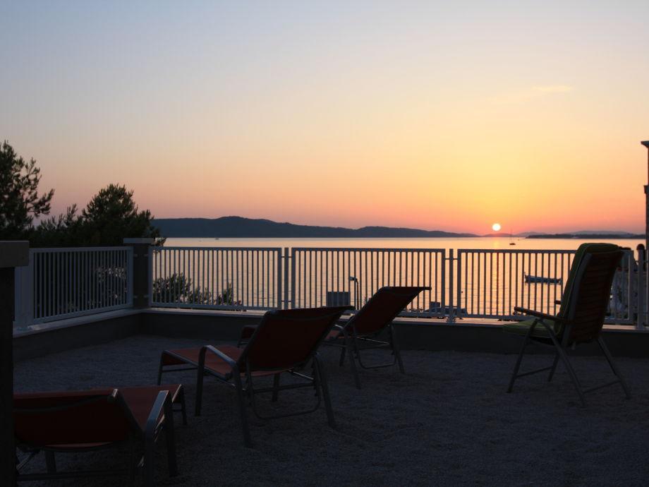 Abendstimmung von der Terrasse