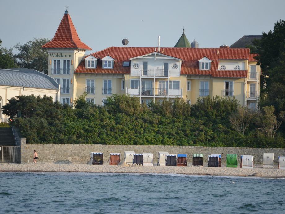 Residenz Waldkrone vom Meer aus
