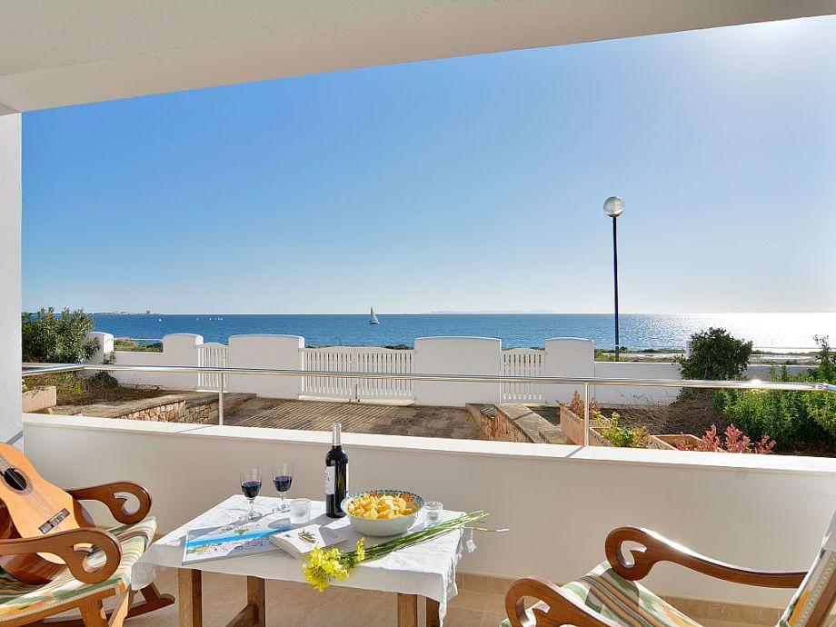 Fantastischer Panorama-Meerblick von der Terrasse