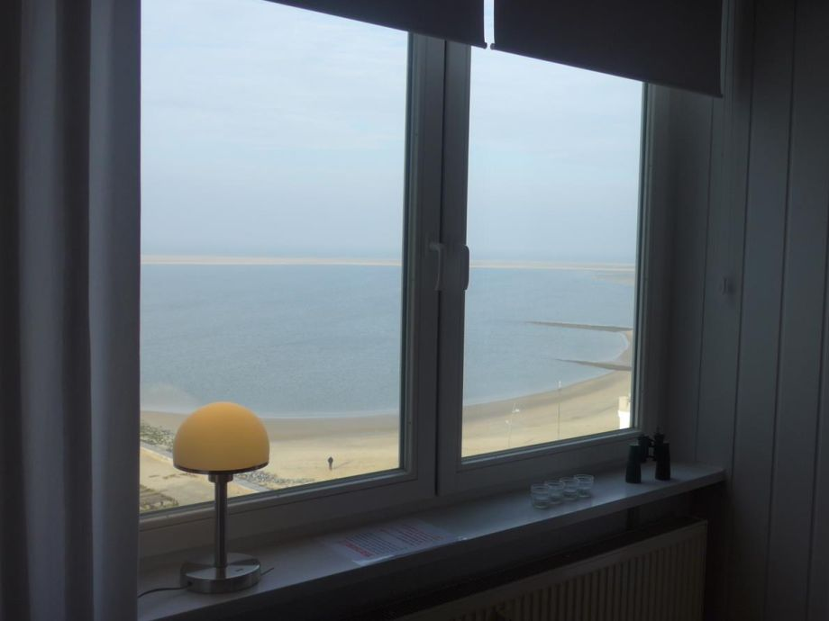 Blick vom Wohnzimmer auf die Seehund