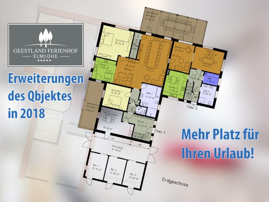 Erweiterungen für Ihren Urlaub in 2018 im Erdgeschoss