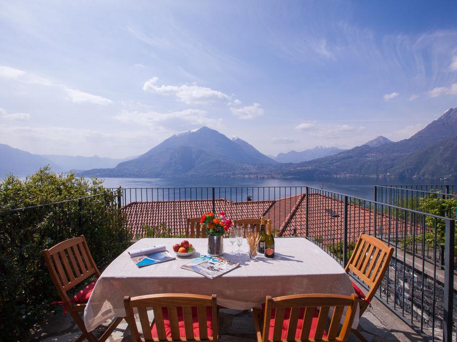 Private Terrasse mit Blick auf den See