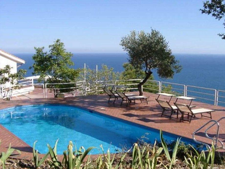 Pool mit Terrasse und schönem Ausblick