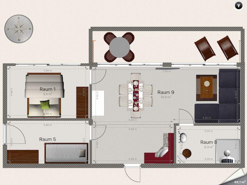 Ferienwohnung Strandhaus Rose 12
