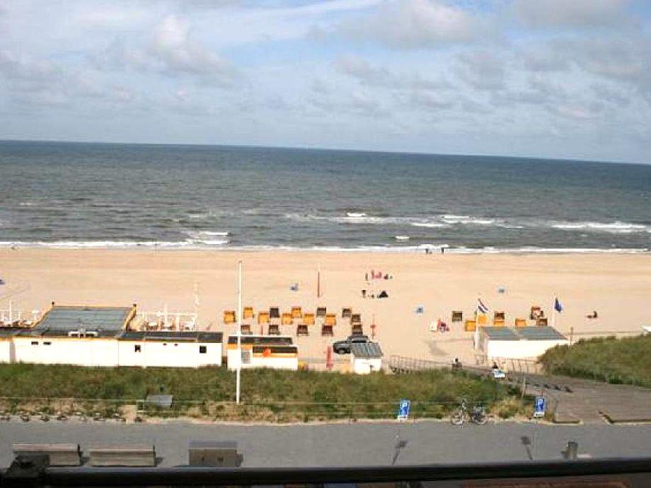 Blick auf den Strand von Egmond aan Zee