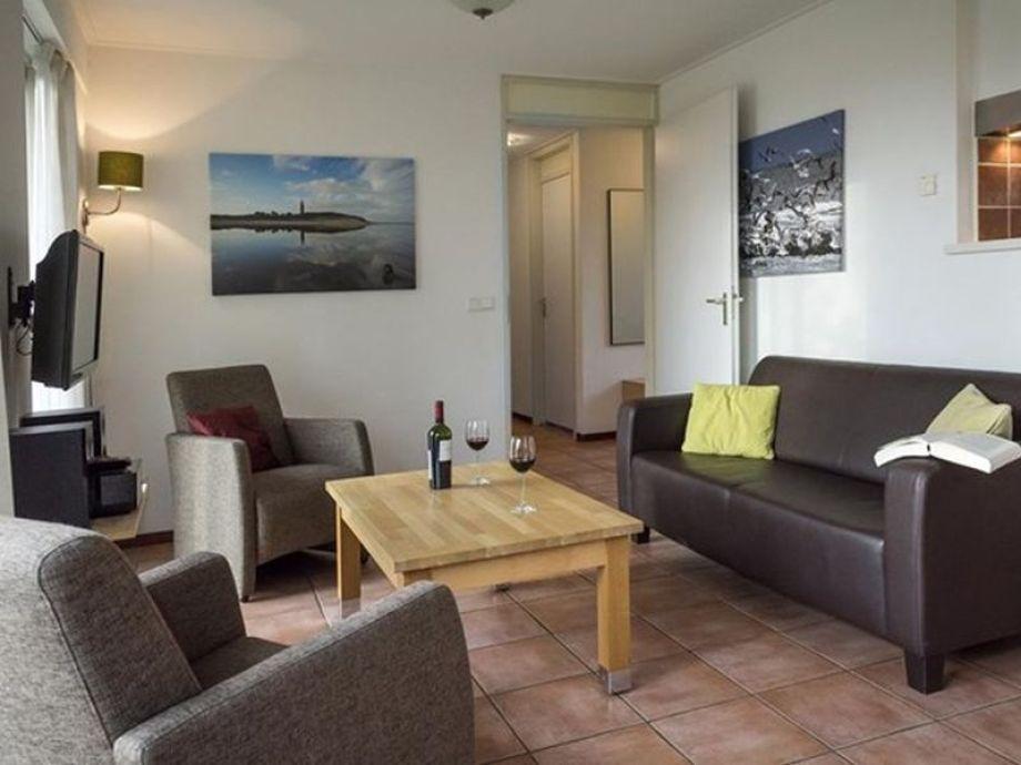 Das Wohnzimmer im Ferienhaus Bleekersvallei Wulp 16a