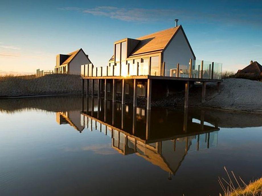 Die Außenansicht der Villa Ruimte op Texel