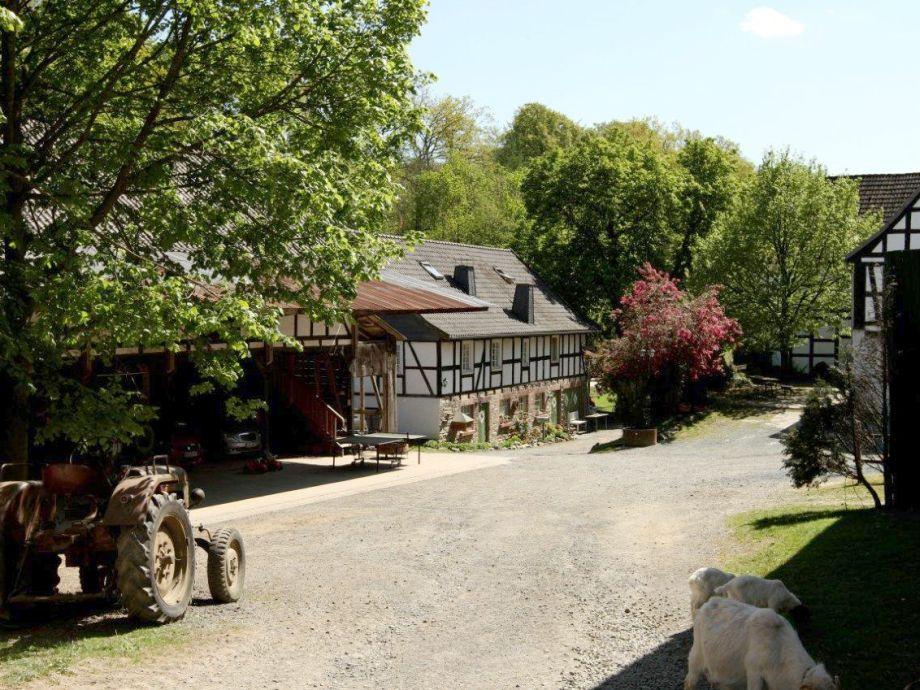 Der schöne Innenhof unseres Bauernhofes