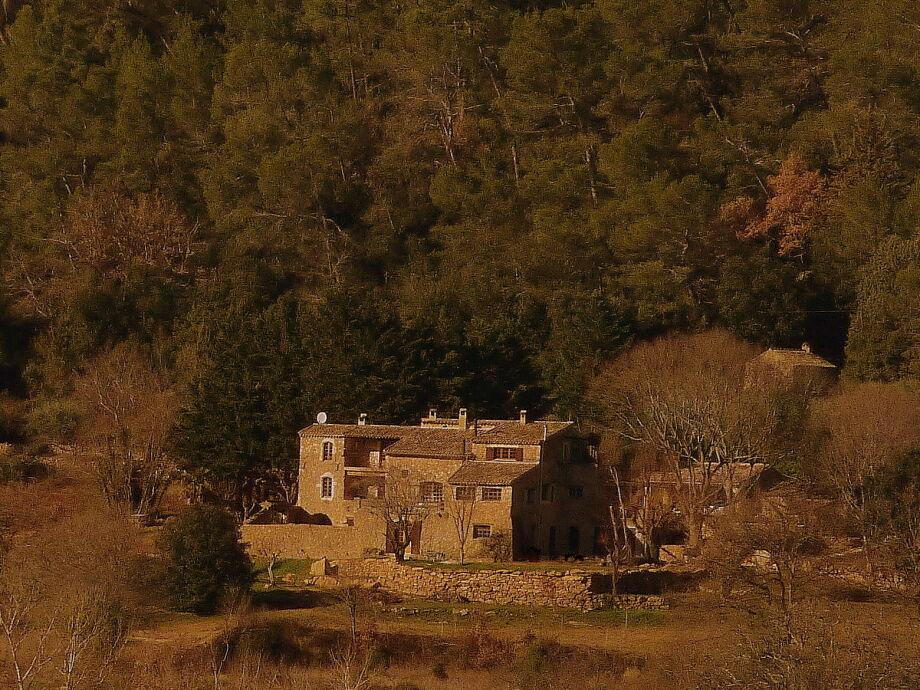 Das 7 ha Anwesen im Winter