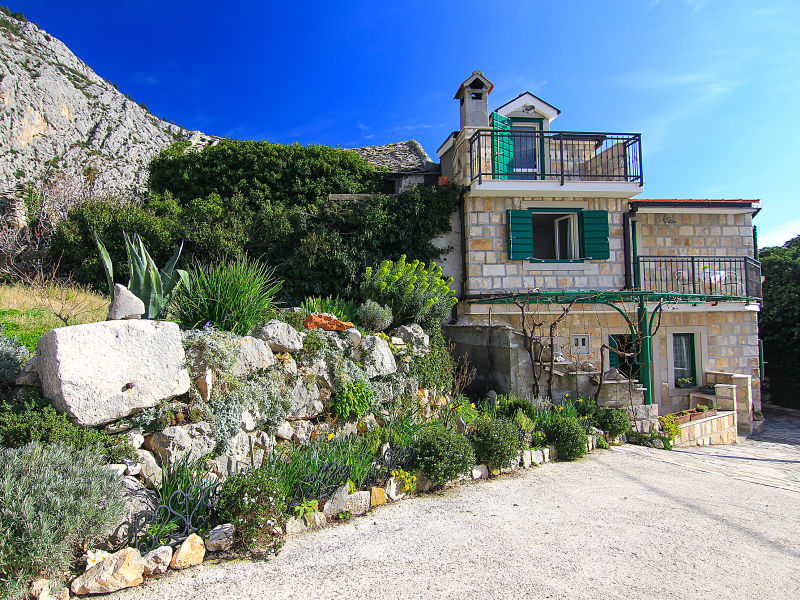 Ferienhaus Jasmina in Tucepi mit Meerblick