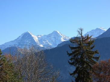 Ferienwohnung Sonnenterrasse, Sicht auf Alpenkette und See