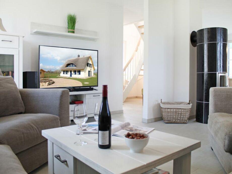 Lachmöwe - Blick vom Sofa auf den Fernseher