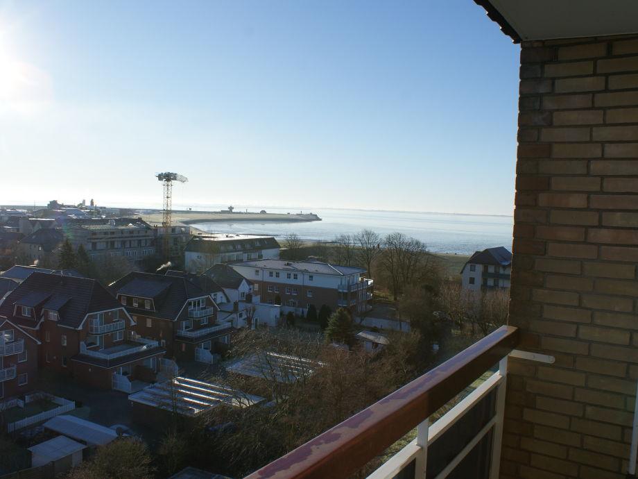 Toller Blick vom Balkon auf die Nordsee