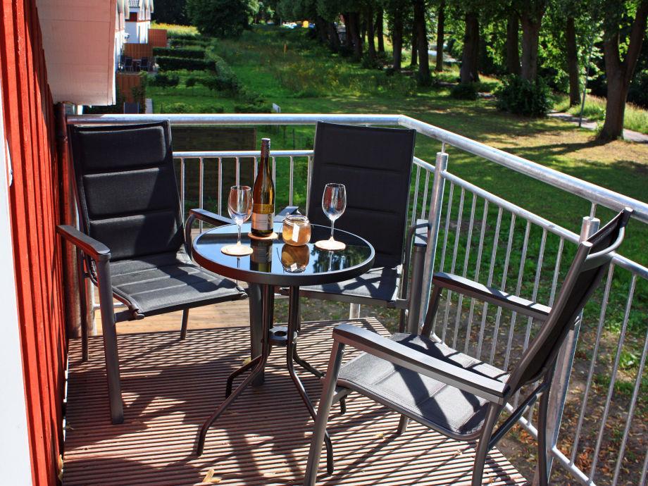 Balkon mit Blick auf den Kanal