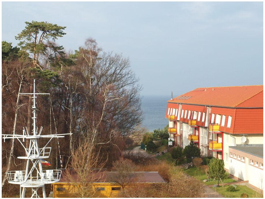 Blick aus dem Dachgeschoss in Richtung Ostsee