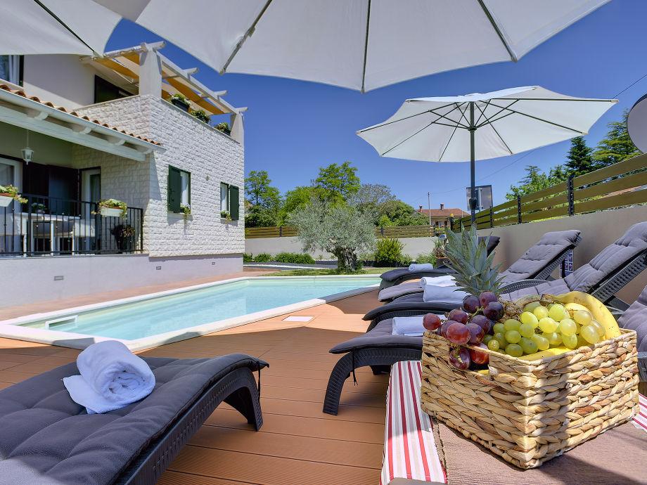 Rückseite des Hauses mit Schwimmbad