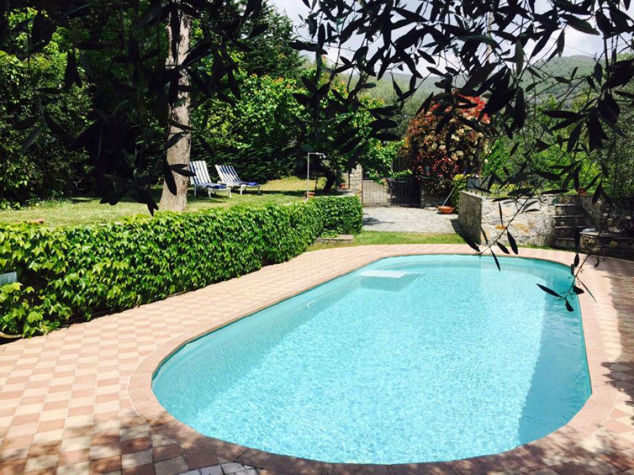 Pool und Garten der Villa Paola