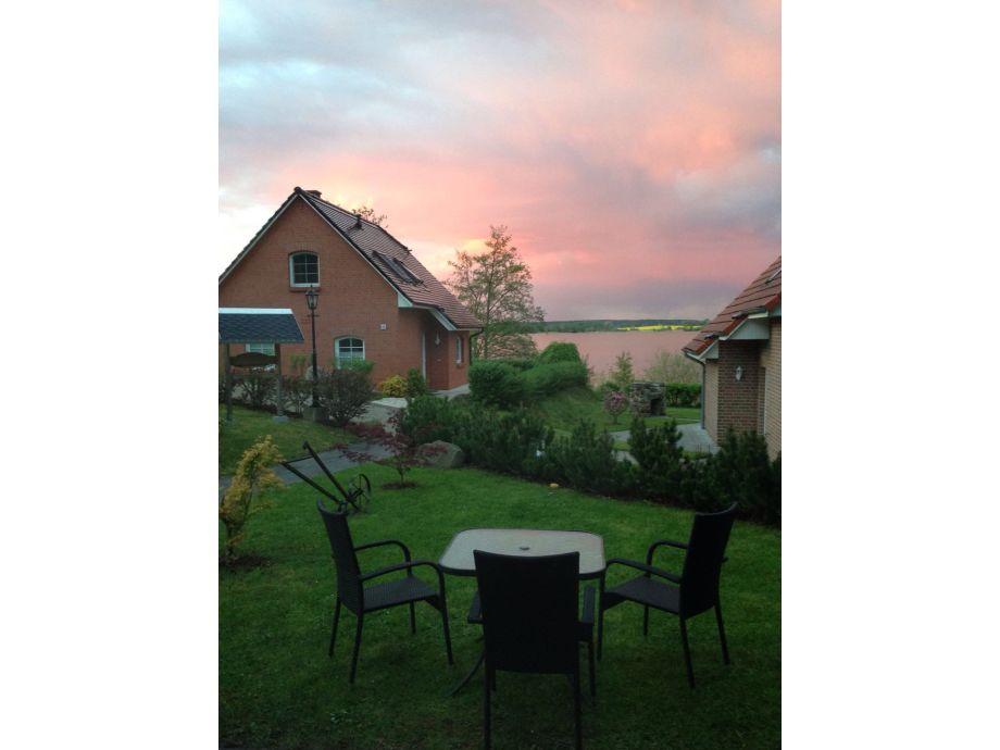 Ausblick auf den Sternberger See, von der Terrasse aus.