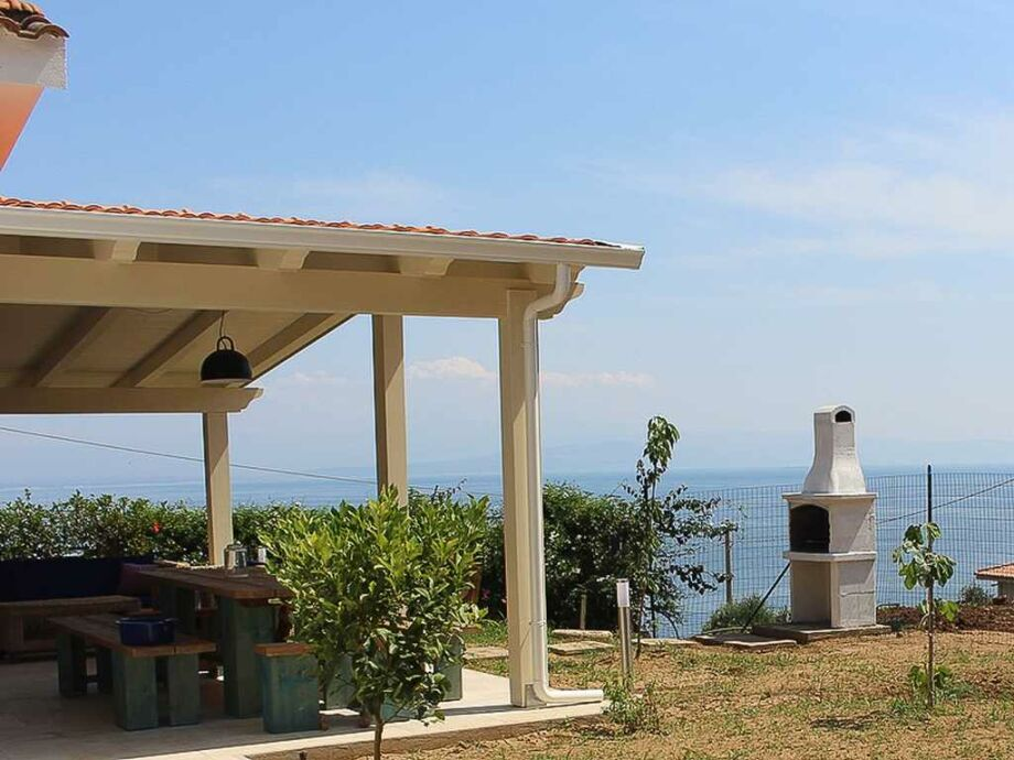 Villa Michaela - Terrasse mit Meerblick