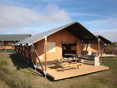 Luxus-Safarizelt, nur 100 Meter vom Strand entfernt