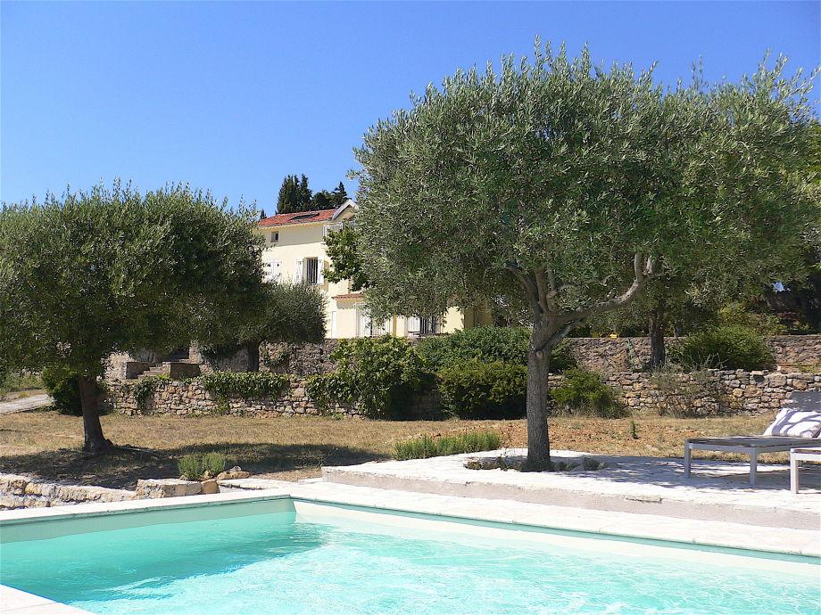 "Pool with ""La Marjuliere"""