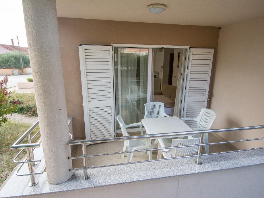 Sitzecke auf dem Balkon