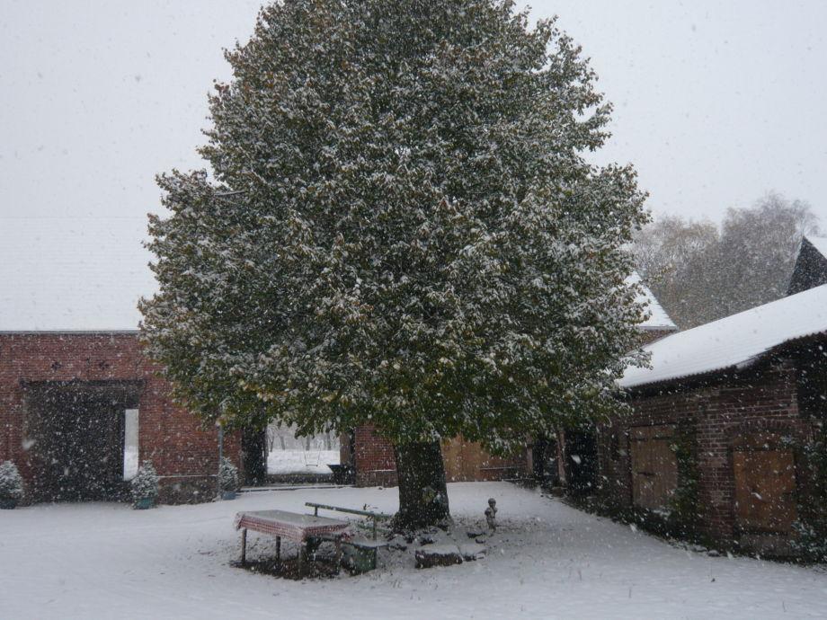 Der Innenhof - auch im Winter schön
