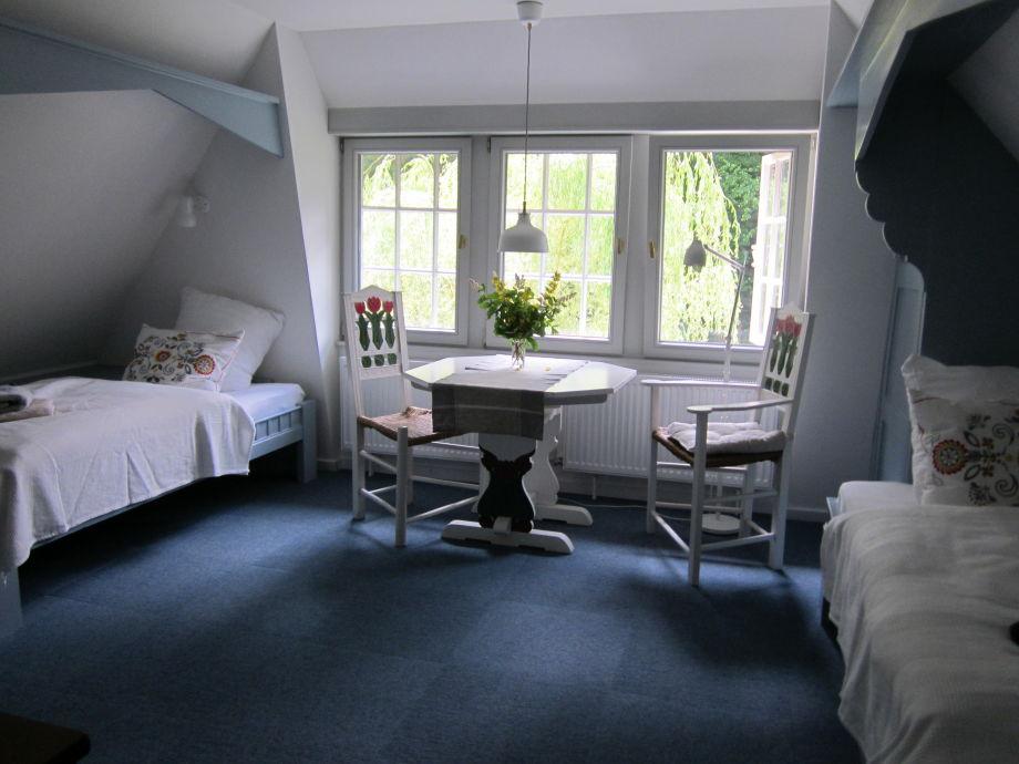 Das Blaue Zimmer mit zwei gemütlichen Alkoven