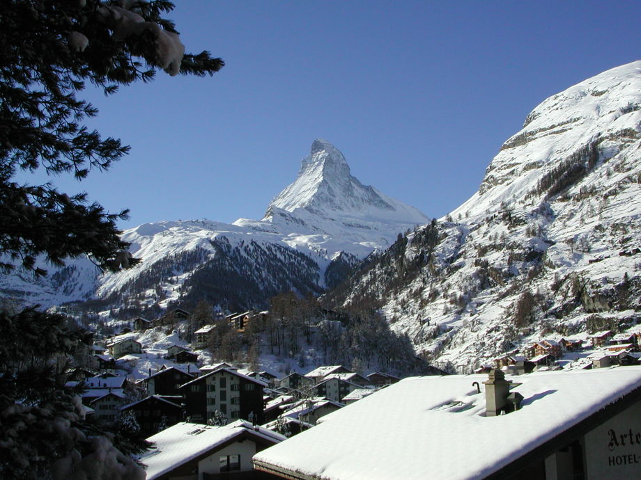 View of the matterhorn from the balcony
