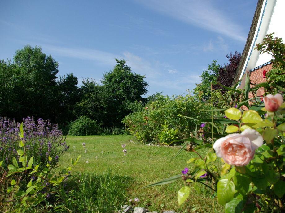 vom Gärtner gepflegter, schöner Garten