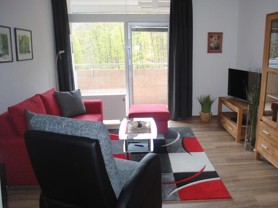 Wohnzimmer mit Panoramablick aus der 15. Etage