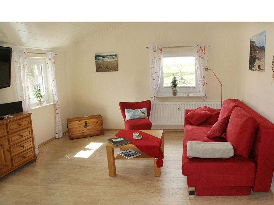 Wohnzimmer mit Doppel-Schlafsofa